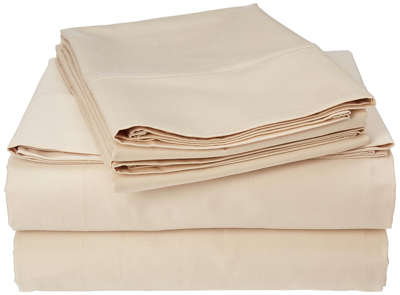LS Mills 400 Thread Count Elles Bedding Collections Bed Sheets 100/% Cotton Sheet Set 4-Piece Bedsheet set Sateen Weave WHITE, Queen 15 inch Deep Pocket