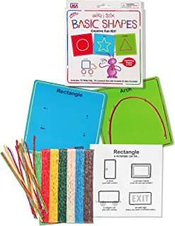 product image for 72 Original Made in USA Wikki Stix are Soft Pliable Teaching Tools for Learning in Basic Shapes Kit.