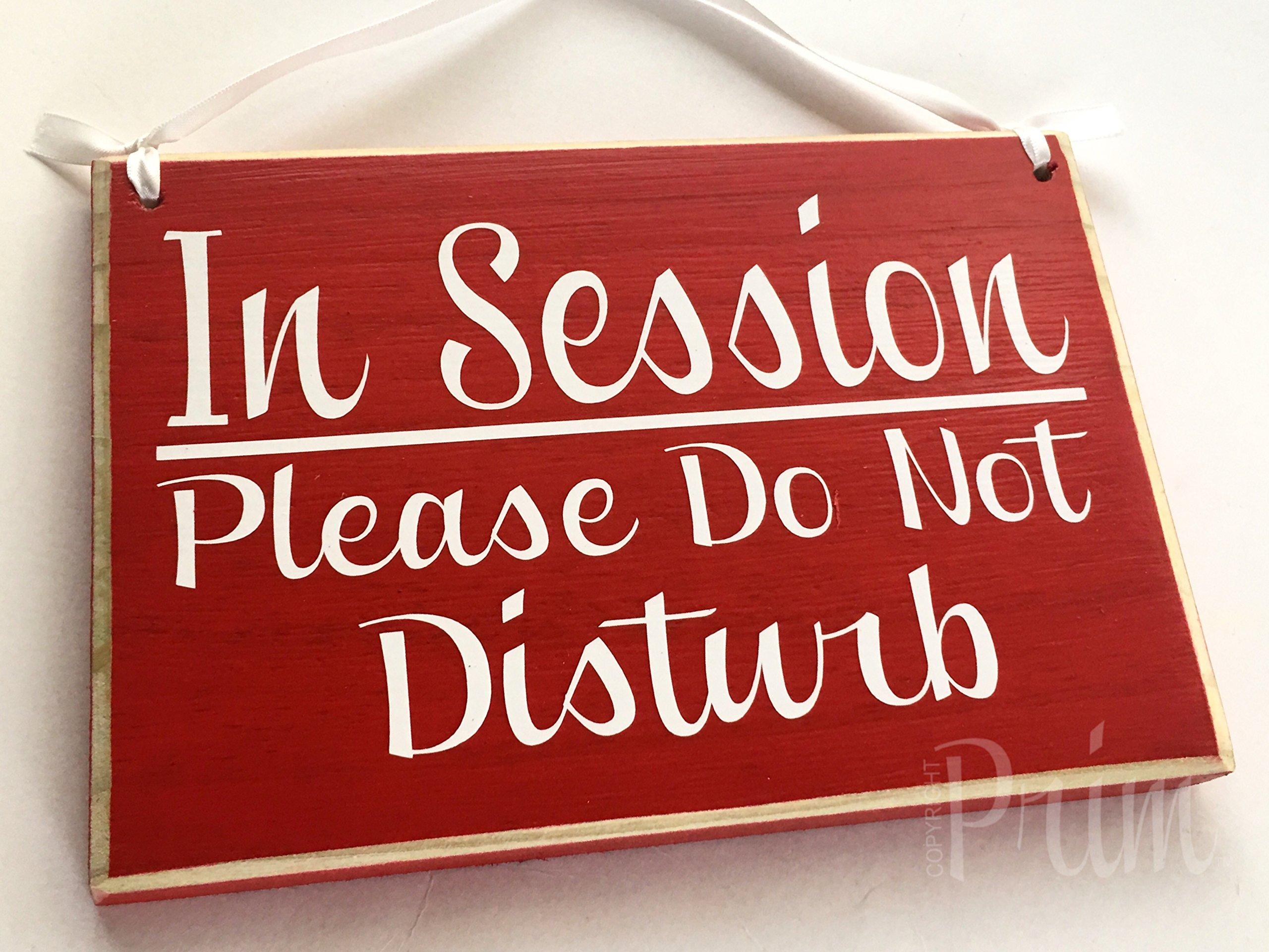 Prim and Proper Decor In Session Please Do Not Disturb 8x6 (Choose Color) In Progress Shhh Quiet Please Soft Voices Spa Salon Massage Facial Consultation Service Custom Wood Sign