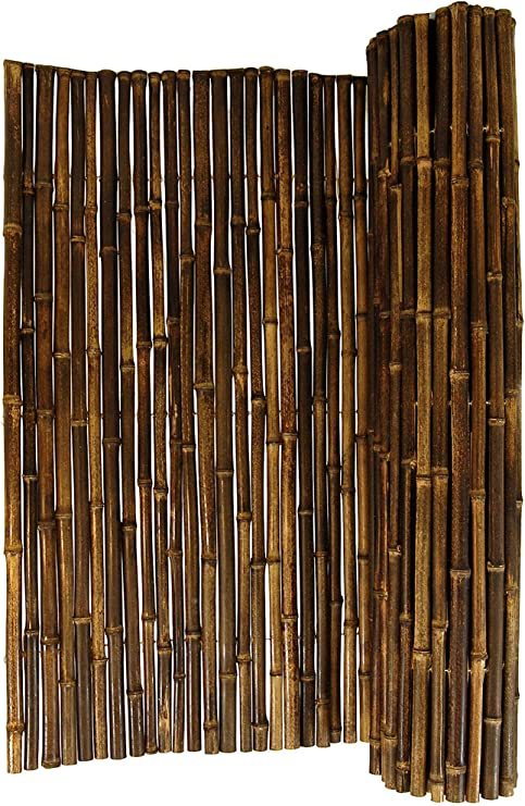 DE-COmmerce Viento - y Valla Ocultación Black i Bambú Protección para los Ojos Jardín, Terraza, Balcón, Pared de Partición, Separador Ambientes Bamboo Cerca con Geschlossenen Tubos: Amazon.es: Jardín
