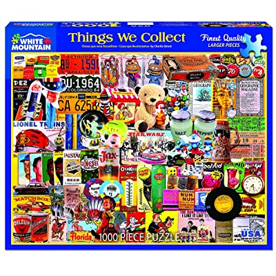 White Mountain Puzzles Things We Collect - 1000Piece Jigsaw Puzzle: Toys & Games
