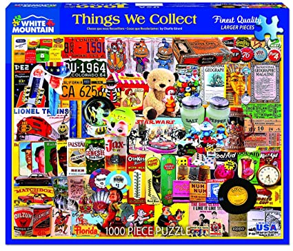 amazon com white mountain puzzles things we collect puzzle