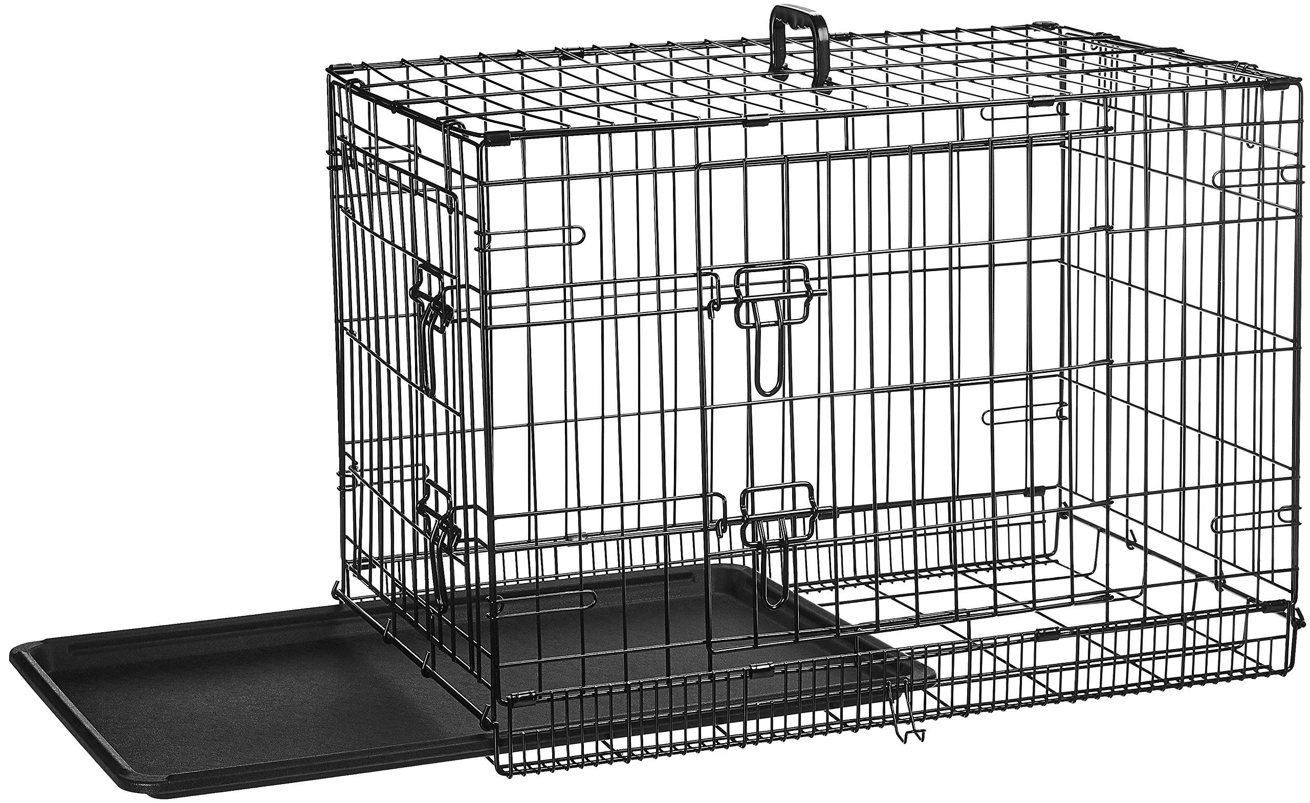 AmazonBasics Double-Door Folding Metal Dog Crate - 30 Inches by AmazonBasics (Image #5)