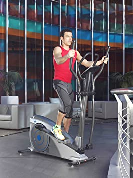ION Fitness SHARP EMS FI232 bicicleta elíptica. Volante de inercia 10 kg.Freno electromagnético