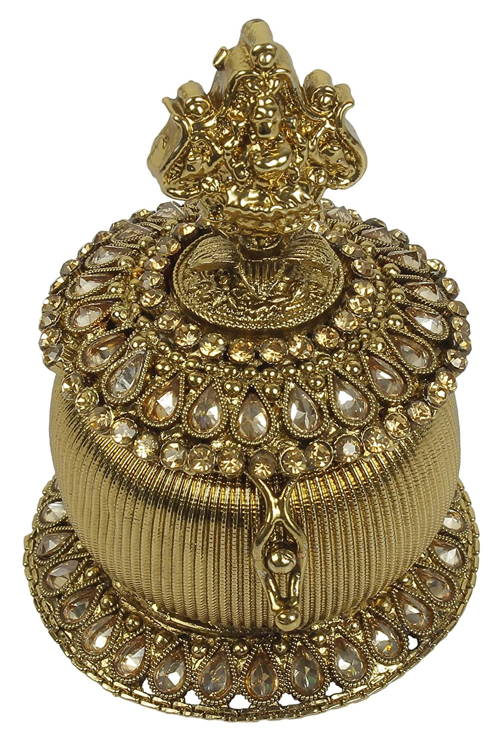 Antique Gold Plated Indian Ethnic Traditional Fashion Sindoor Box SB-07