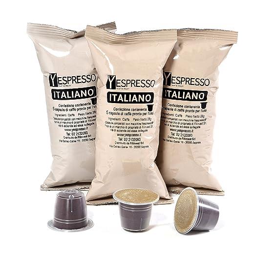 72 opinioni per Yespresso Capsule Nespresso Compatibili Italiano- Confezione da 100 Pezzi