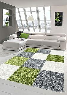 shaggy teppich hochflor langflor teppich wohnzimmer teppich ... - Wohnzimmer Grun Grau Beige