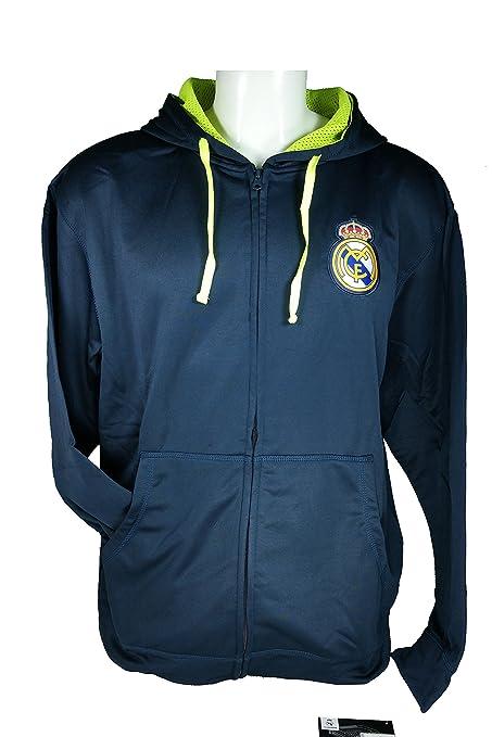 Real Madrid C.F. cremallera frontal chaqueta de forro polar sudadera oficial licencia fútbol sudadera con capucha