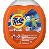 Tide PODS Plus Febreze Sport Odor Defense Laundry Pacs, Active Fresh Scent, 61 count, Designed For Regular and HE Washers (Packaging May Vary)