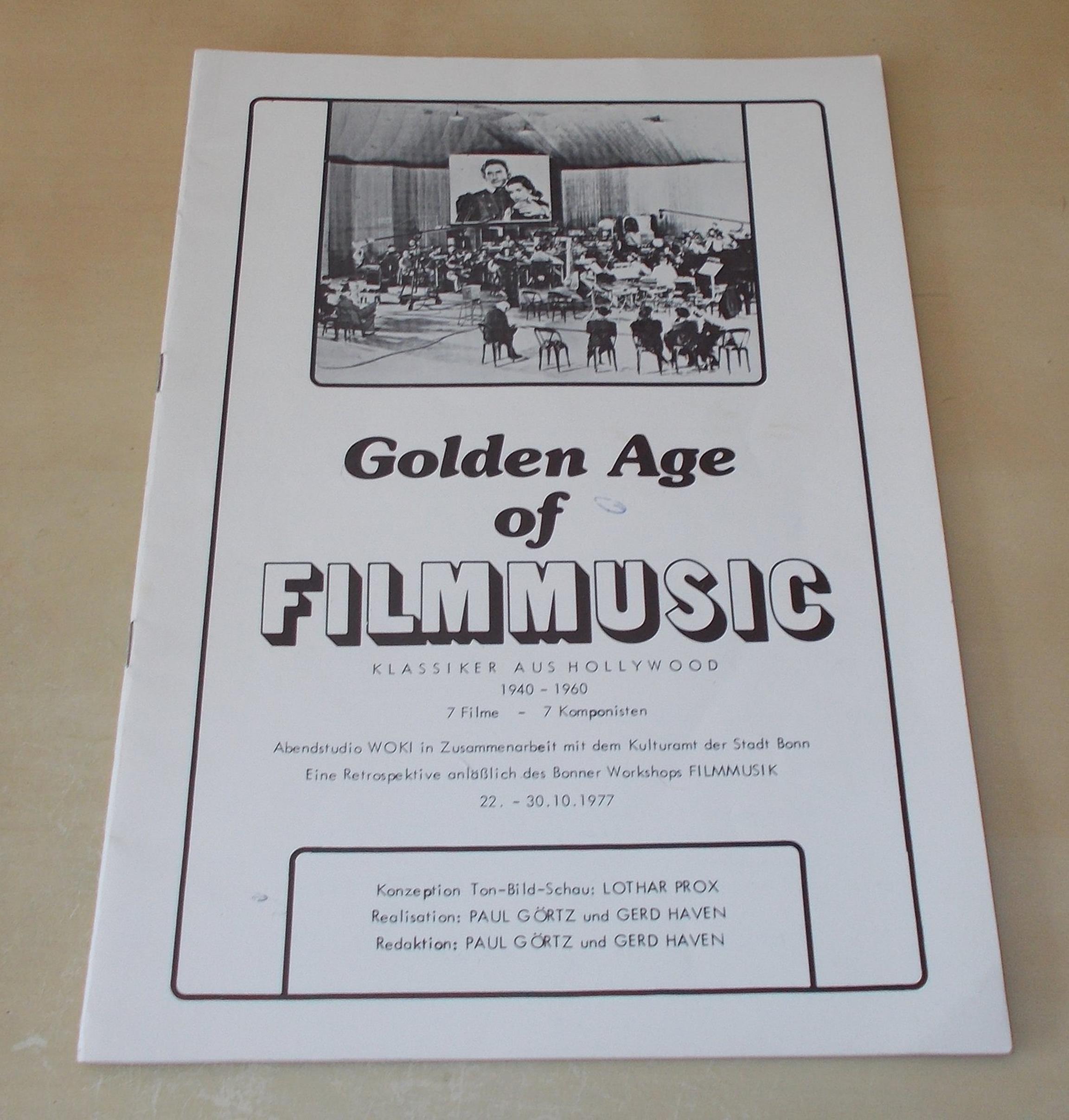 Programmheft Golden Age Of Filmmusic Klassiker Aus Hollywood 1940