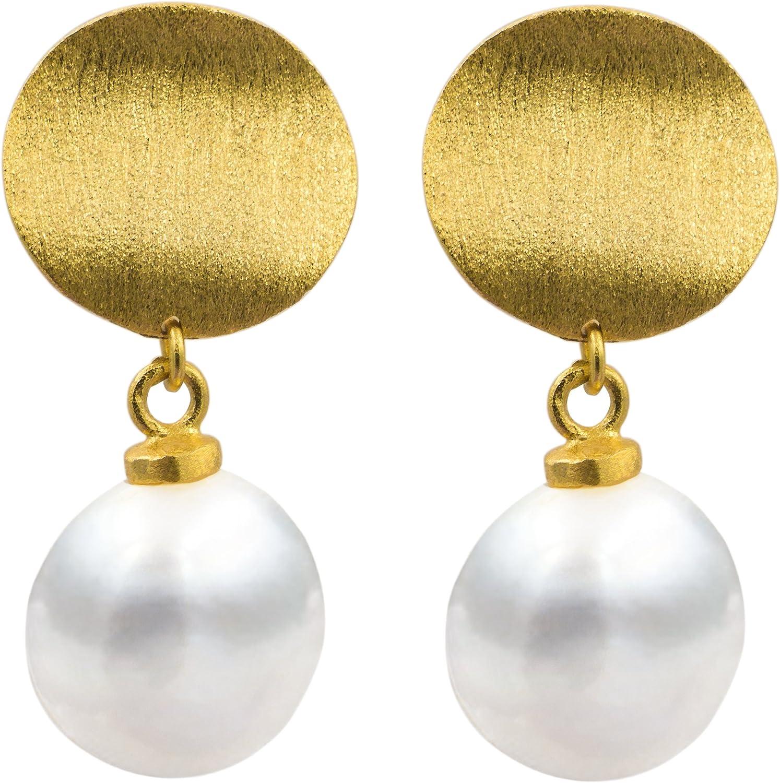 Pendientes de Mujer de Perlas Cultivadas de Agua Dulce Barrocas y Keshi SECRET & YOU - Plata de Ley de 925 Milésimas bañada en Oro de 18 K o en Rodio.