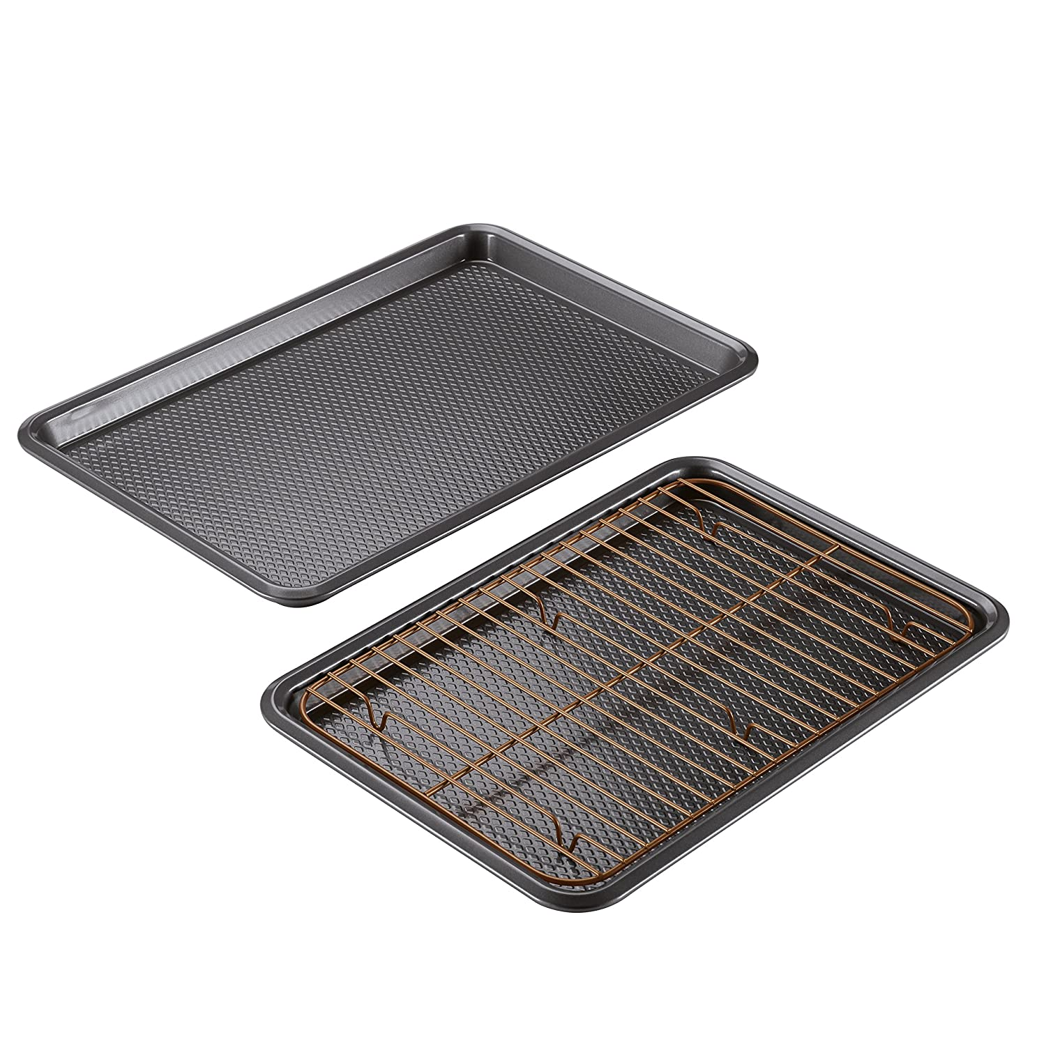 Ayesha Bakeware Cookie Pan Set, Copper, 2-Piece Ayesha Curry 47005