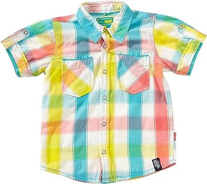 NAME IT - Camisa a Cuadros para niña, Talla 5-6 años (110/116 cm), Color (Vibration): Amazon.es: Ropa y accesorios