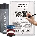 happylandgifts® Propiedad Real de Nueva York Certificado de Propiedad con el Nombre Deseado para registrarse   Regalos…