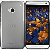 mumbi TPU Schutzhülle HTC One Hülle transparent schwarz (NICHT HTC One M8)