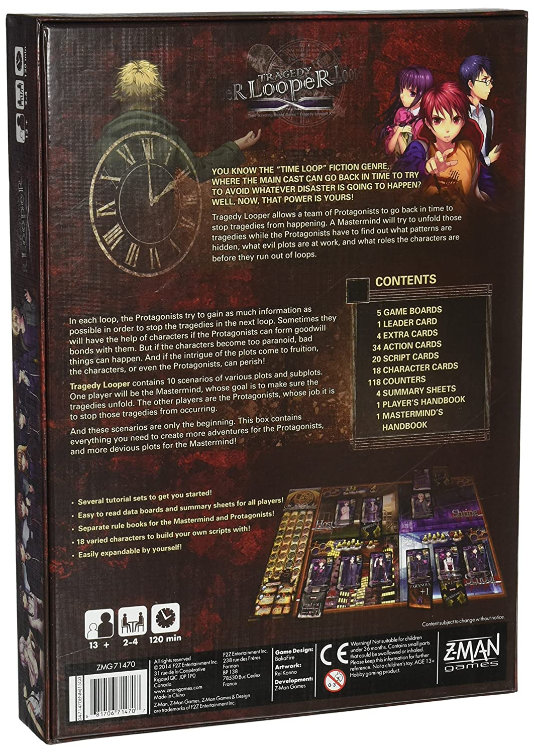 ZMan Games ZMG Tragedy Looper Board Game Amazoncouk Toys - Design your own character games