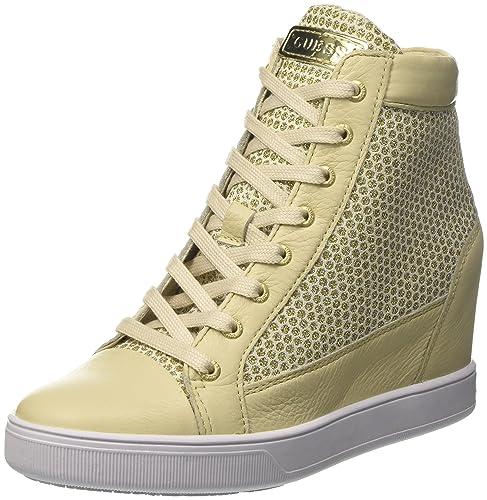 Guess Furia, Zapatillas de Tenis para Mujer, Neutro Beige, 37 EU: Amazon.es: Zapatos y complementos