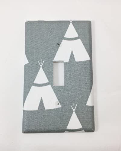 Amazoncom Teepees Fabric Covered Single Light Switch Cover