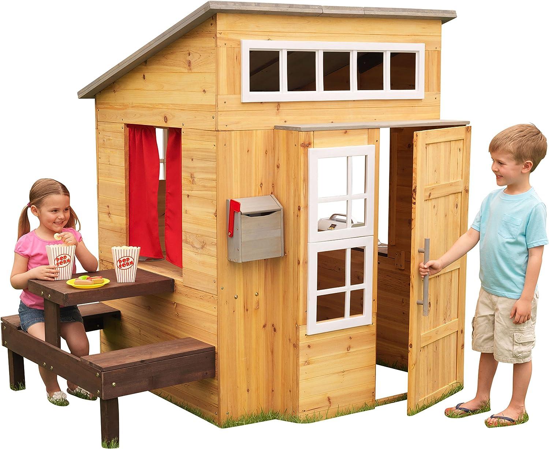 KidKraft 182 Wooden Outdoor Garden Playhouse Including Play Kitchen and Accessories for Children Kids