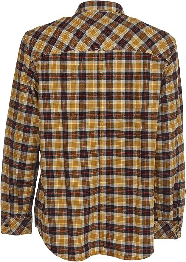 Diesel - Camisa de Cuadros Amarilla Amarillo L: Amazon.es: Ropa