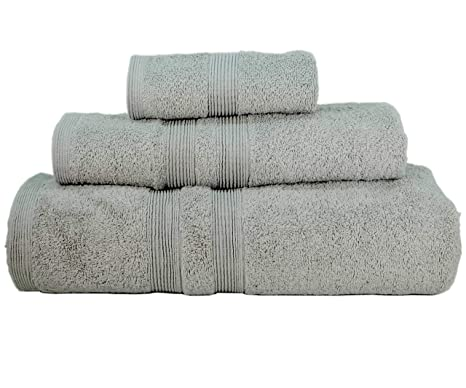 Premium toalla de baño turco Set (3 toallas) Loop Terry 100% algodón luxury