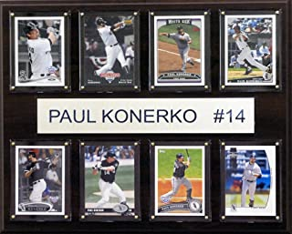 product image for MLB Chicago White Sox Paul Konerko 8-Card Plaque, 12 x 15-Inch
