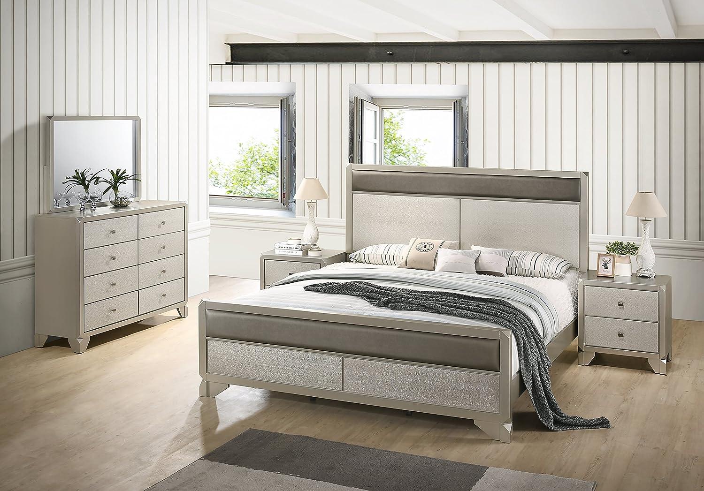Amazon.com: Roundhill Furniture Keila Contemporary Wood ...