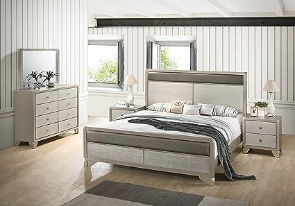 Amazon.com: Roundhill Furniture B480QDMN2 Keila Contemporary Wood ...