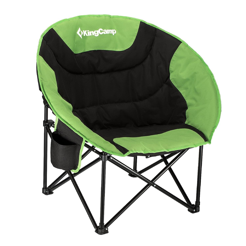 KingCamp Camping-Freizeitstuhl für Outdoor-Aktivitäten mit Getränkehalter, Faltbar und tragbar mit Tragetasche