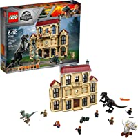 1019-Piece. LEGO Jurassic World Indoraptor Rampage at Lockwood Estate Building Kit