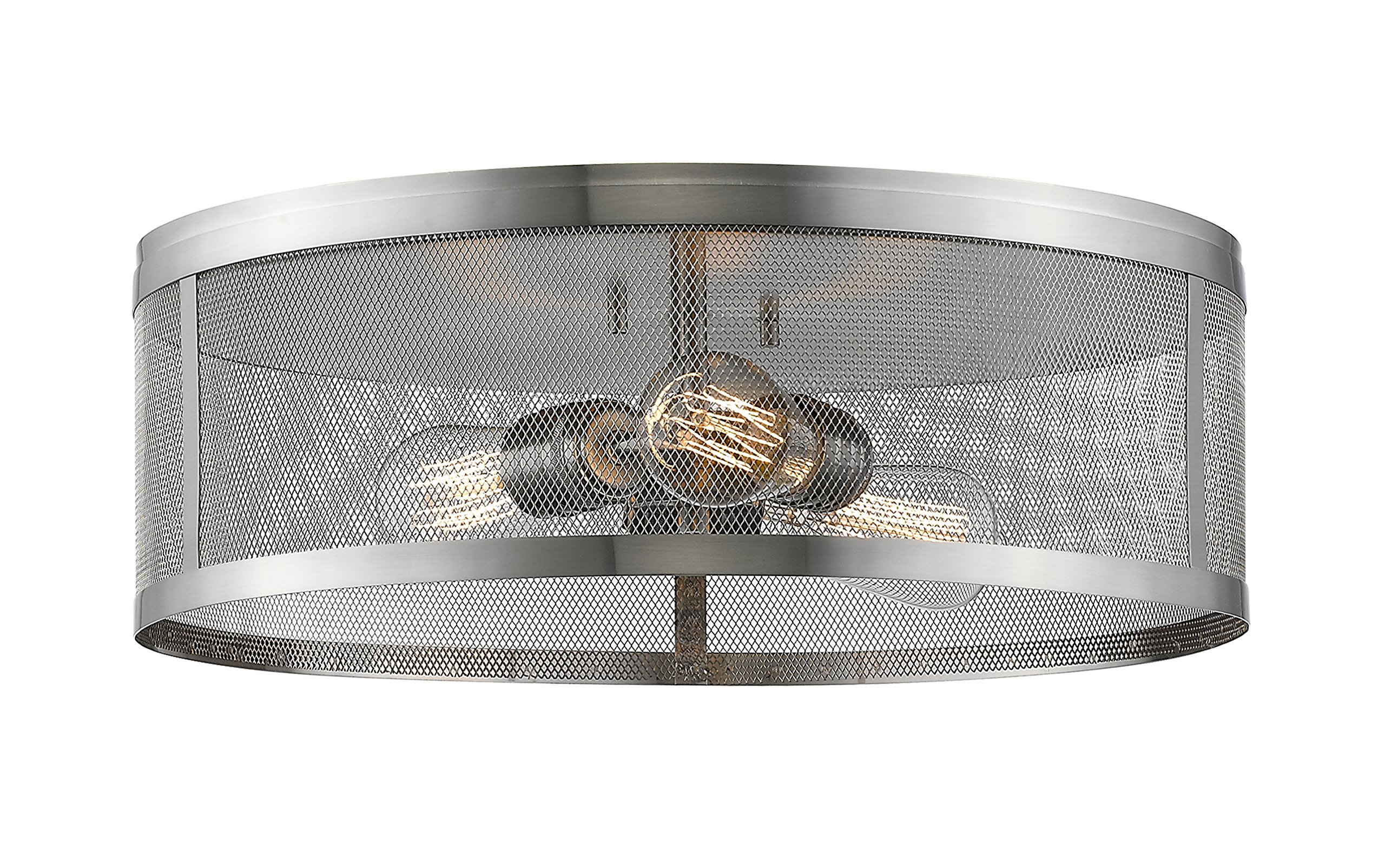 Z-Lite 331F18-BN 3 Light Flush Mount 3 by Z-Lite