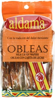 Aldama Mini Obleas Con Cajeta (Milk Candy Wafers) 20pc in Pack