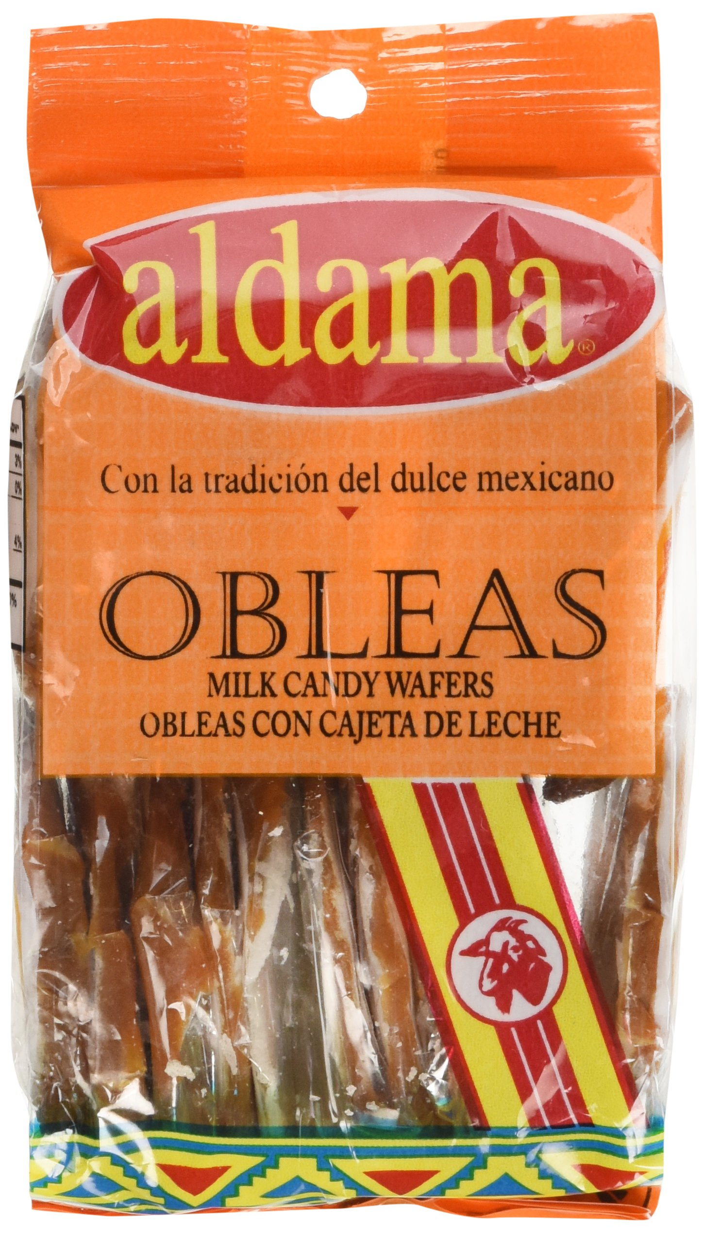 Aldama Mini Obleas Con Cajeta (Milk Candy Wafers) 20pc in Pack