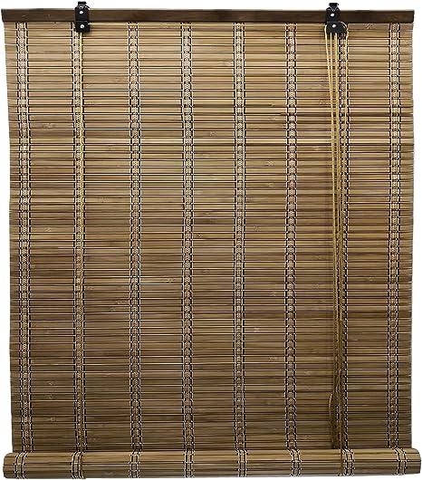 Solagua 6 Modelos 14 Medidas de estores de bambú Cortina de Madera persiana Enrollable (110 x 135 cm, Marrón): Amazon.es: Hogar