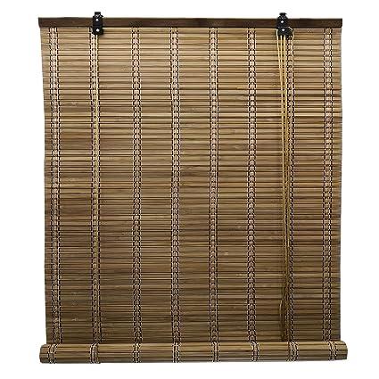 Solagua Store Enrouleur Bambou Store Venitien Bois Store Fenetre Occultant Pour Les Fenêtres Et Les Portes Largeur X Longueur 60 X 135 Cm Marron