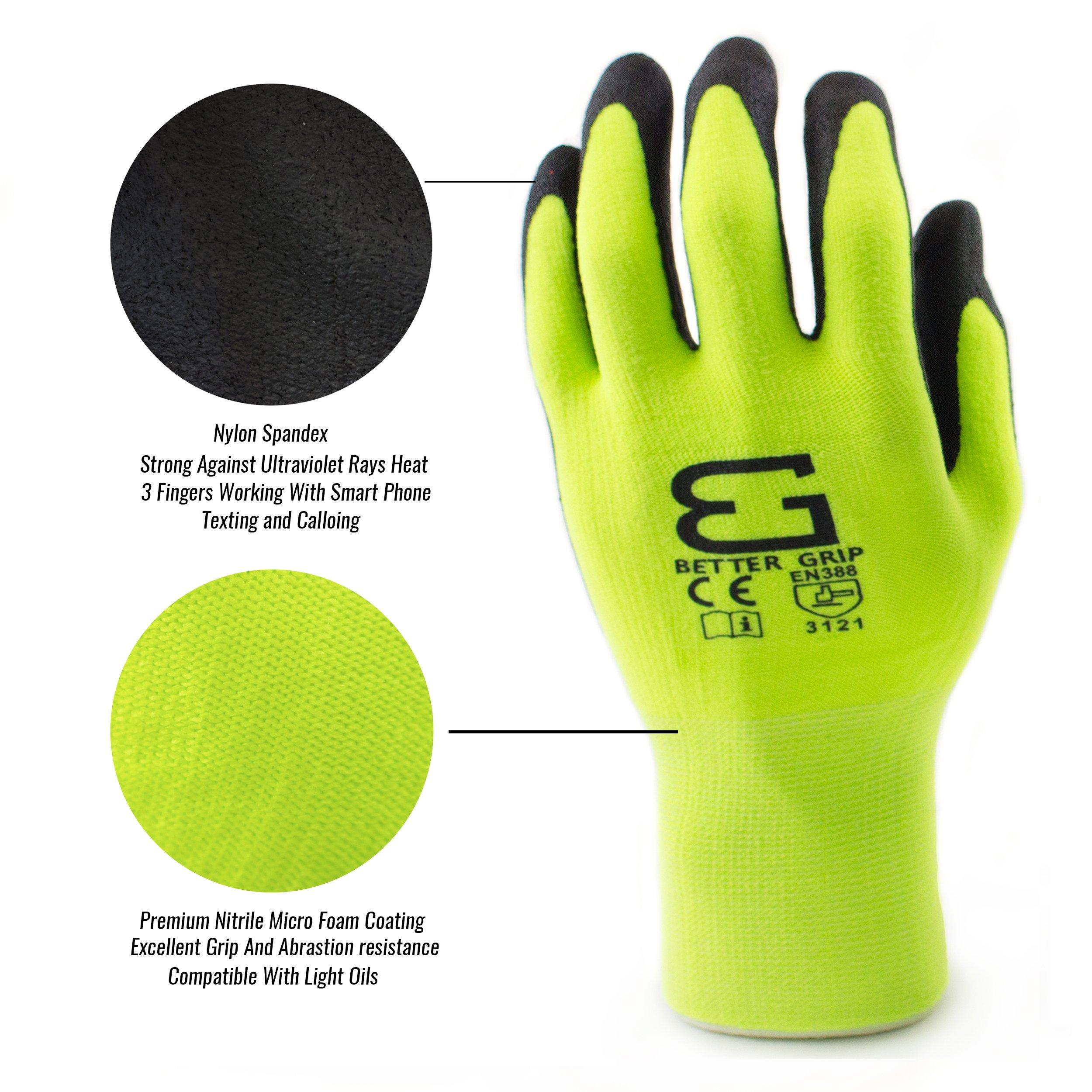 Spidergard SPL-RR50 50 Foot Wire Rope Self-Retracting Lifeline with Swivel Hook and Carabiner w/ Micro Foam Work Glove by Spidergard (Image #10)