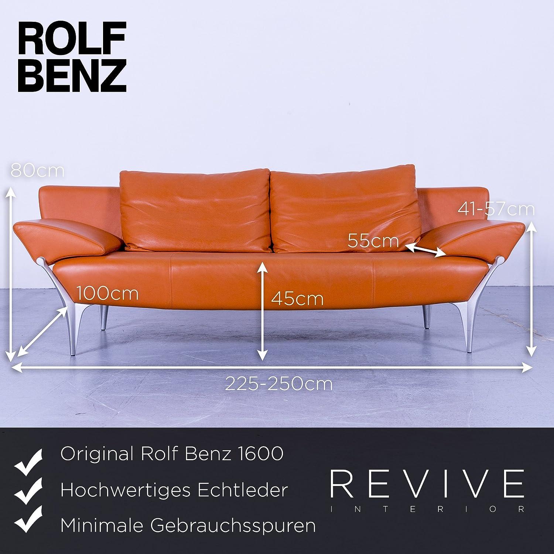 Fabelhaft Benz Couch Referenz Von Conceptreview: Rolf 1600 Designer Leder Sofa Orange