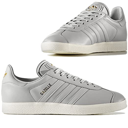 ADIDAS Women's Gazelle Originals Grey/Grey/Gold Metallic Casual Shoe BY9355