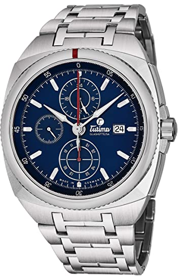 Tutima Saxon One Reloj de Hombre automático 43mm Correa de Acero 6420-05: Tutima: Amazon.es: Relojes