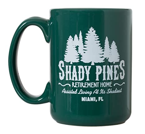 Teagreen Shady Pines Coffee Mug Golden 15oz Deluxe Sided Home Girls Double Inspired Retirement rCdxoeB