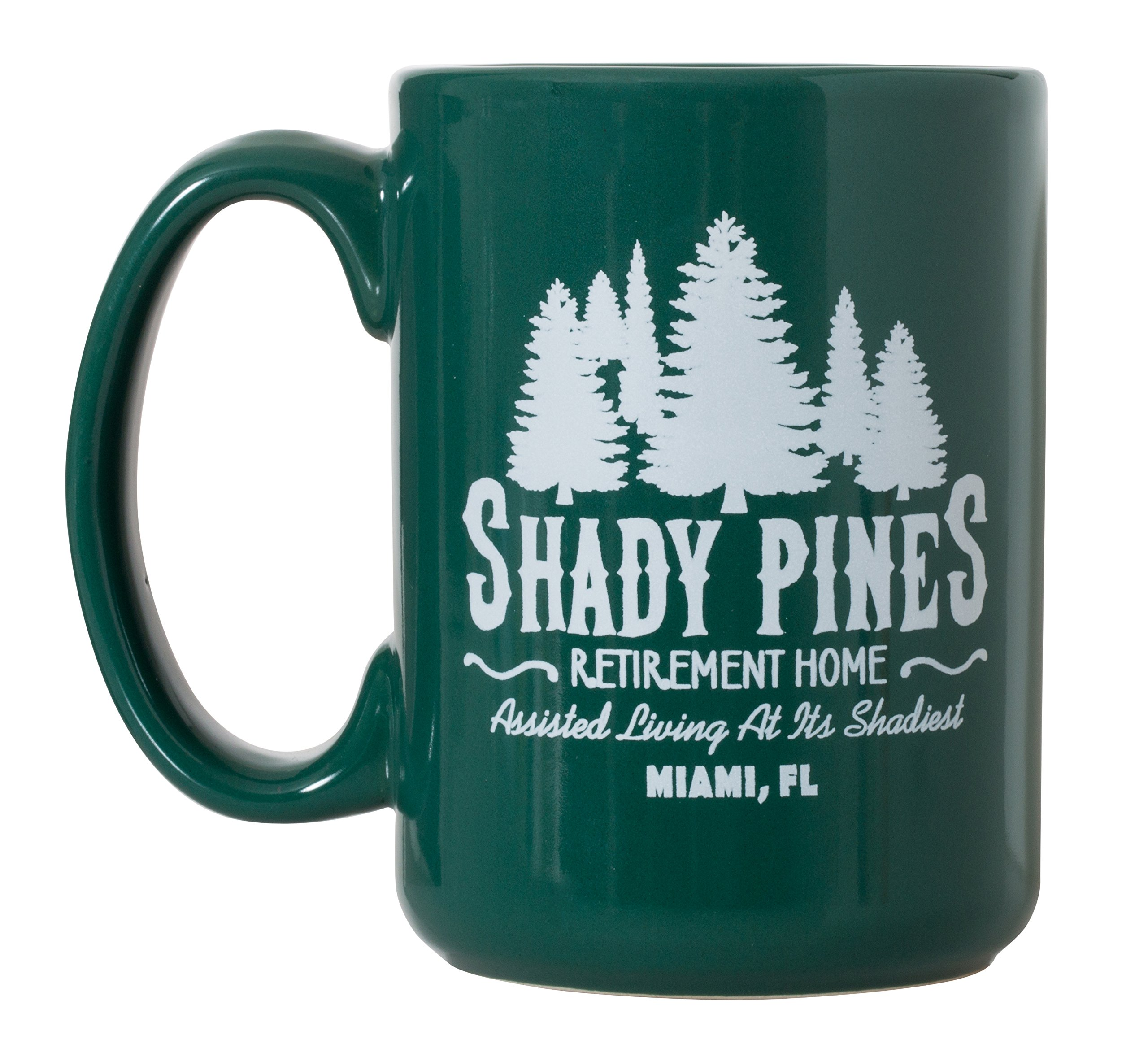 Shady Pines Retirement Home Mug Golden Girls Inspired - 15oz Deluxe Double-Sided Coffee Tea Mug (Green)