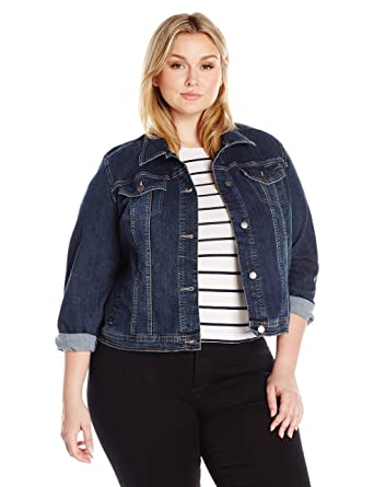 2470384a2be Riders by Lee Indigo Women s Plus Size Denim Jacket at Amazon ...
