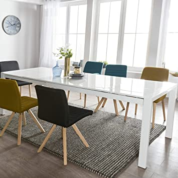 Ks Furniture Glory Table De Salle A Manger Extensible 160 X 76 X