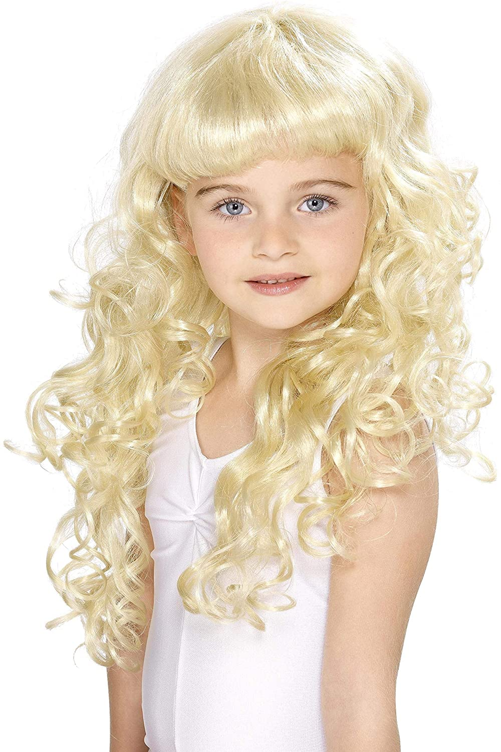 Smiffy's Women's Girl's Princess Wig Child Princess Blonde Kids Wig Smiffys 42131