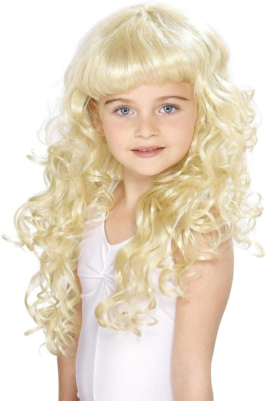 Smiffy s Women s Girl s Princess Wig Child Princess Blonde Kids Wig Smiffys  42131 81f77f335