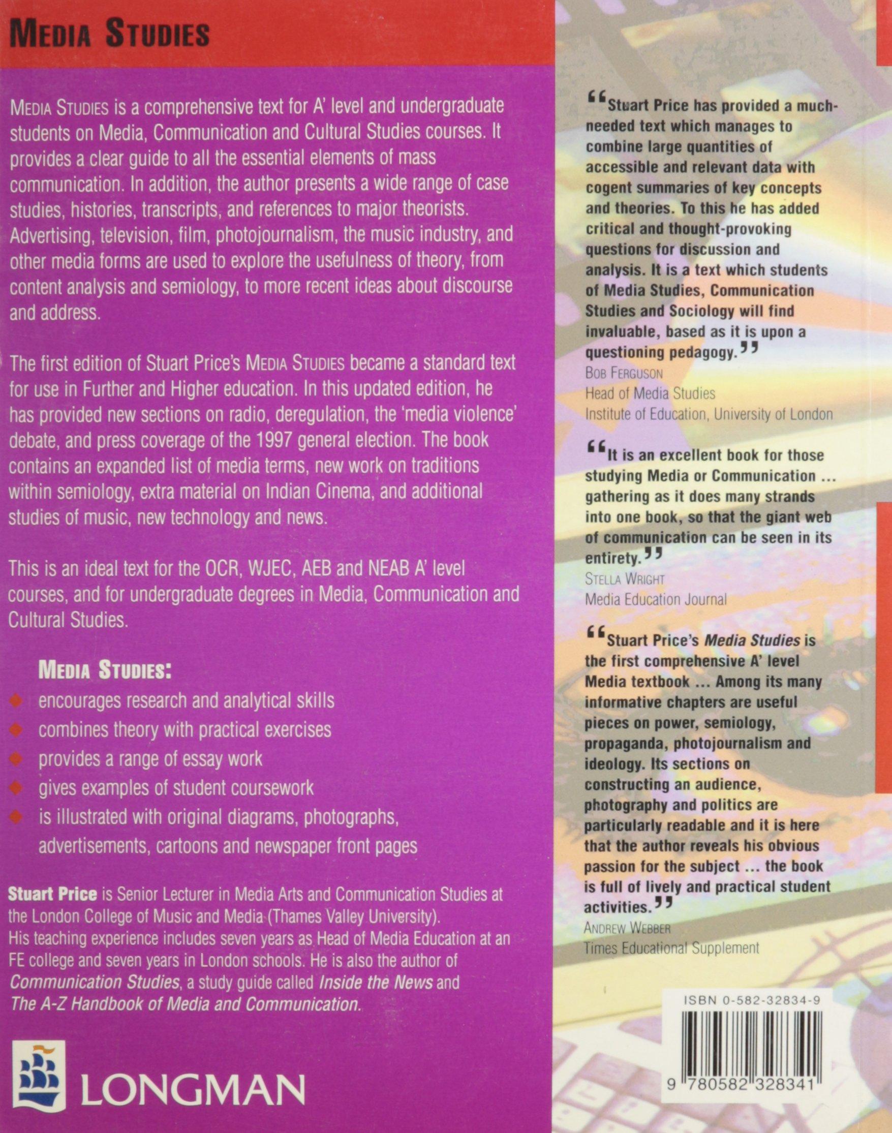 media studies co uk stuart price 9780582328341 books