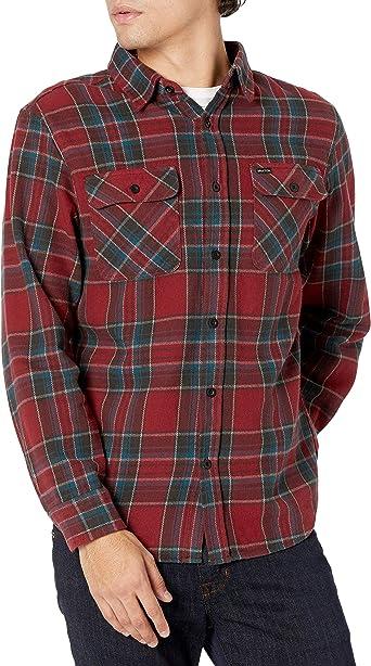 BRIXTON Bowery L/S Camisa de franela con botones: Amazon.es ...