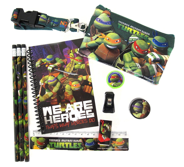 Nickelodeons Teenage Mutant Ninja Turtles 10 Piece Stationery Set TMNT