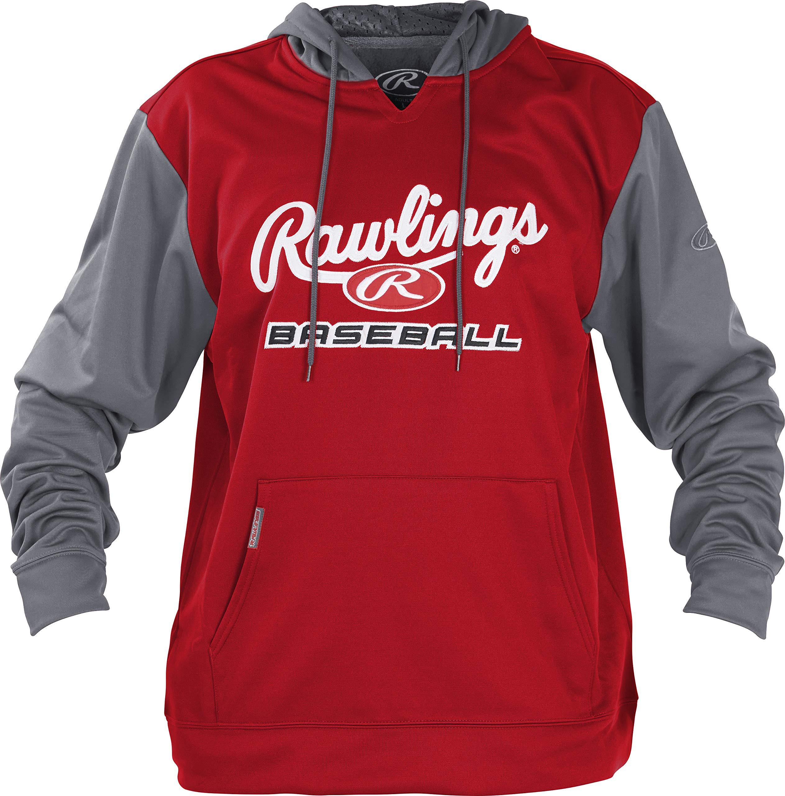 Rawlings Men's Performance Fleece Baseball Hoodie by Rawlings (Image #1)
