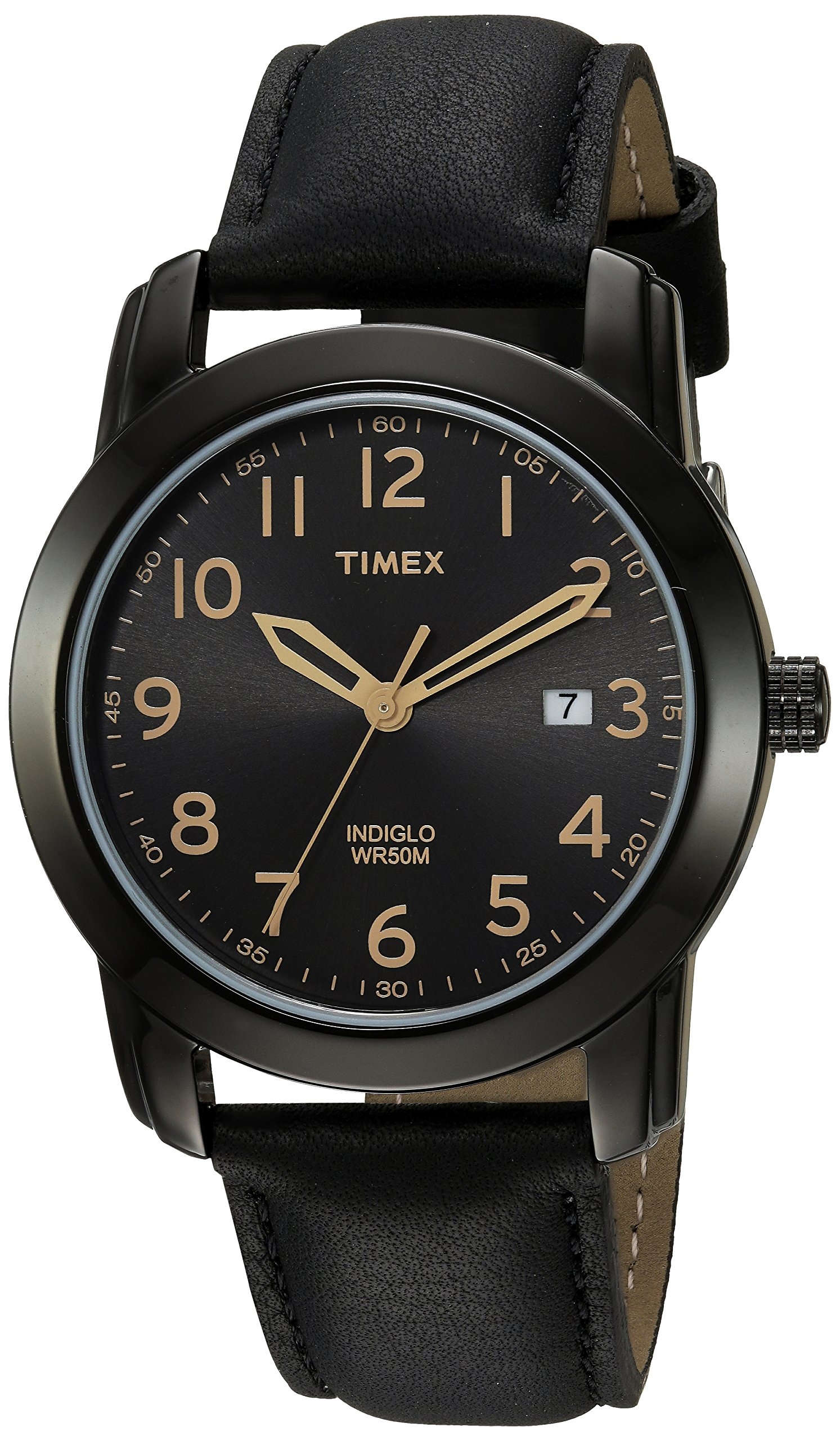 Timex Men's TW2R29800 Highland Street Black Leather Strap Watch by Timex (Image #1)